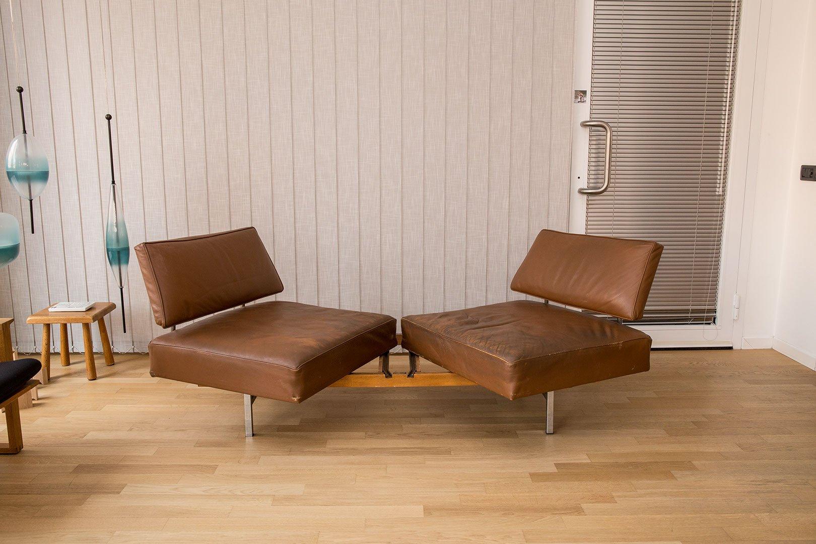 vintage 2 sitzer sofa aus cognacfarbenem leder von walter knoll f r knoll bei pamono kaufen. Black Bedroom Furniture Sets. Home Design Ideas