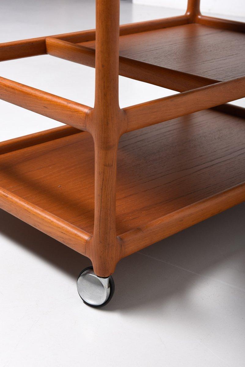 d nischer mid century teak servierwagen von johannes andersen f r cfc silkeborg bei pamono kaufen. Black Bedroom Furniture Sets. Home Design Ideas