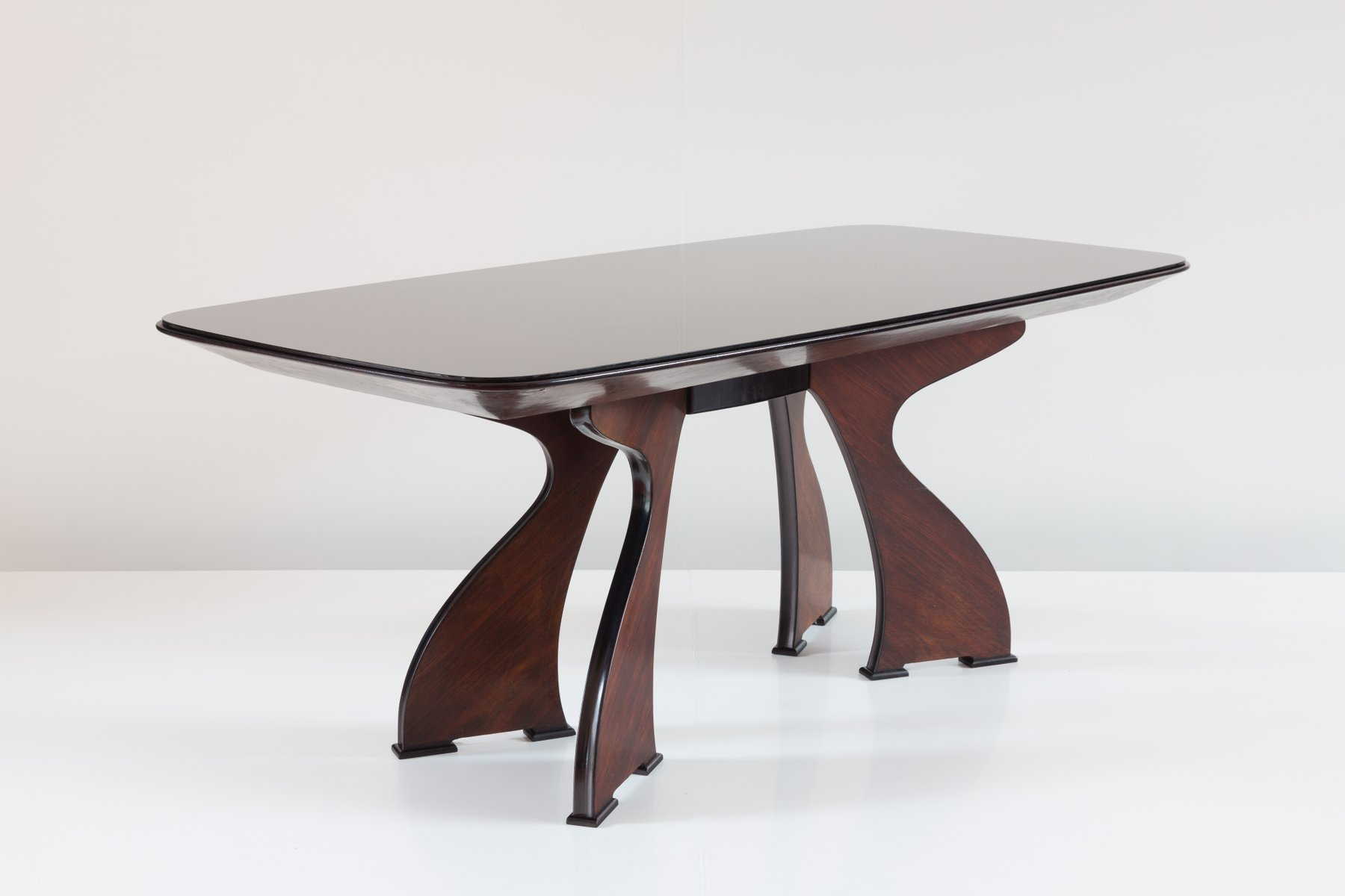 Sculptural italian modern rosewood dining table for sale for Modern dining tables sale