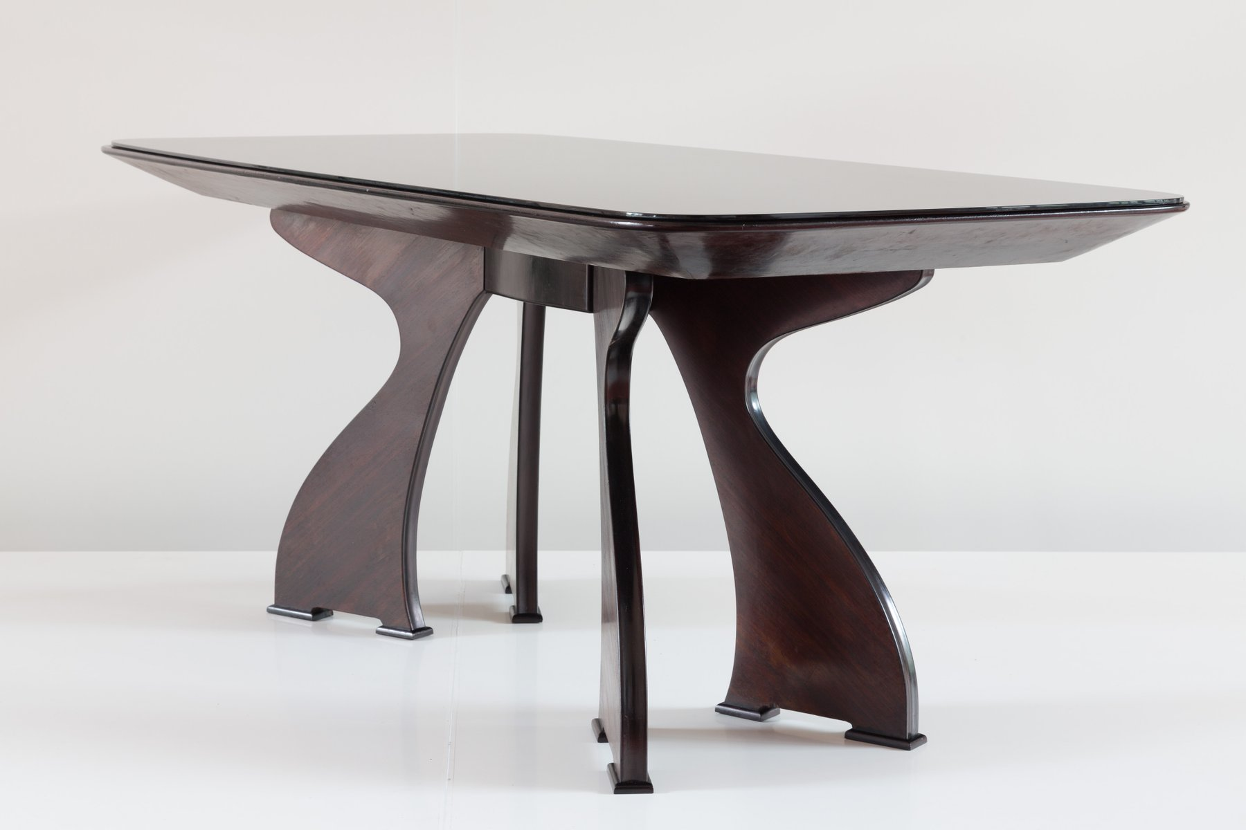 Sculptural italian modern rosewood dining table for sale for Dining tables for sale