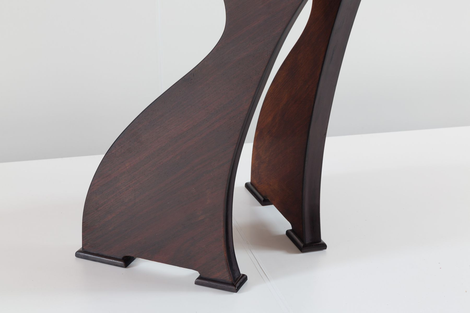 Italian modern dining tables - Sculptural Italian Modern Rosewood Dining Table