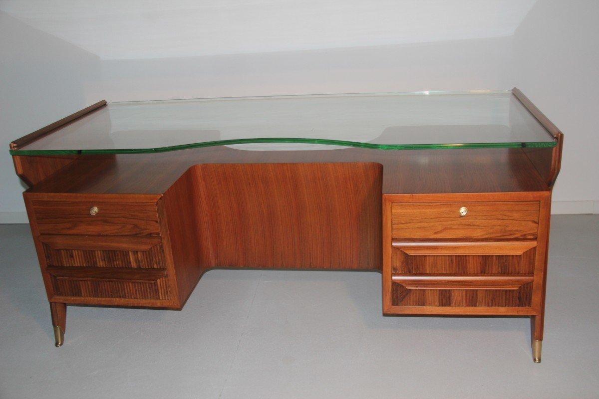 italienischer mid century schreibtisch von vittorio dassi 1950er bei pamono kaufen. Black Bedroom Furniture Sets. Home Design Ideas