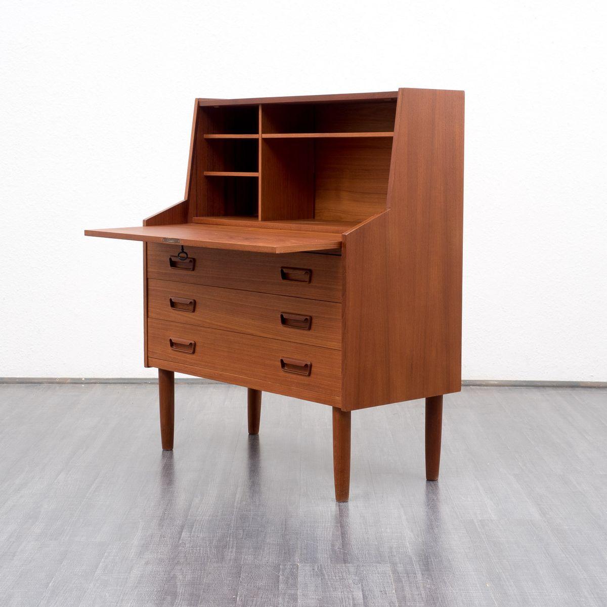 vintage scandinavian style teak secretaire for sale at pamono. Black Bedroom Furniture Sets. Home Design Ideas