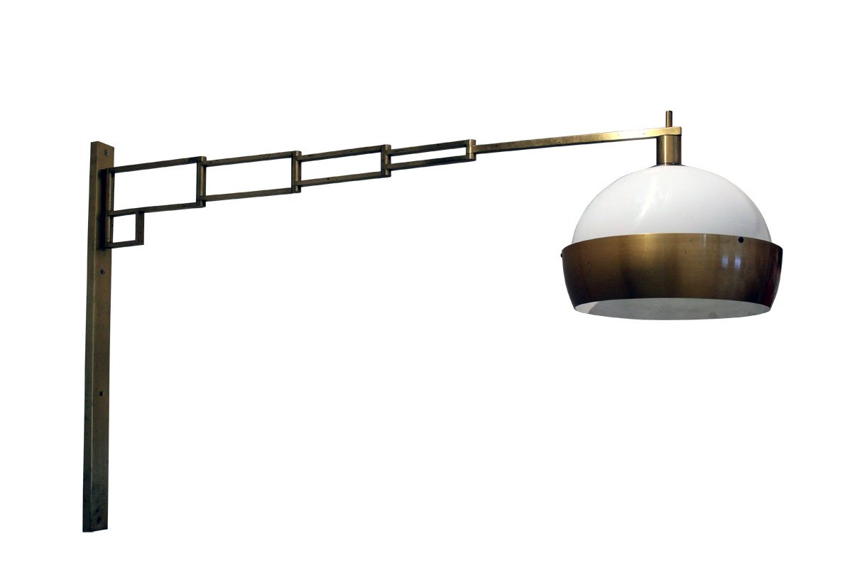 lampe murale extensible et ajustable en laiton de reggiani italie s with table murale extensible. Black Bedroom Furniture Sets. Home Design Ideas