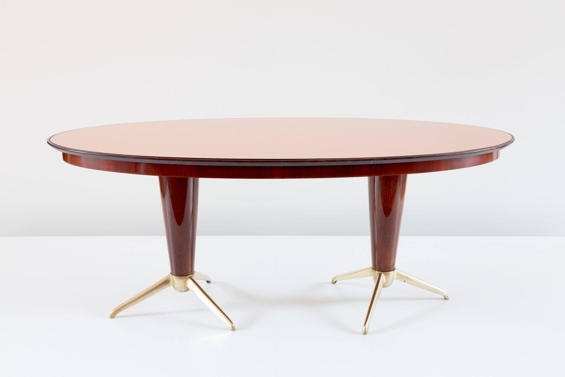 Italian mahogany oval dining table 1952 for sale at pamono for Oval dining table