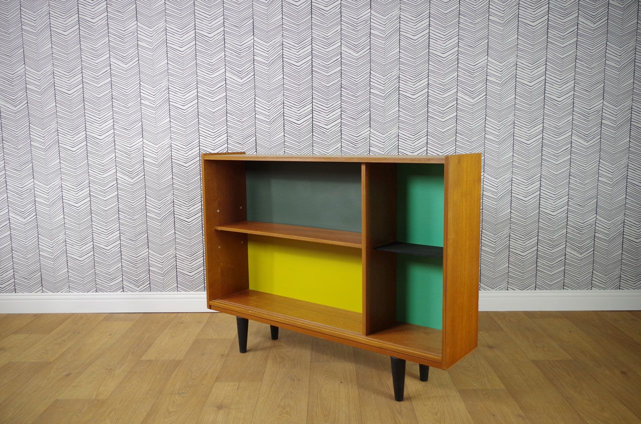 petite biblioth que vintage color e en vente sur pamono. Black Bedroom Furniture Sets. Home Design Ideas