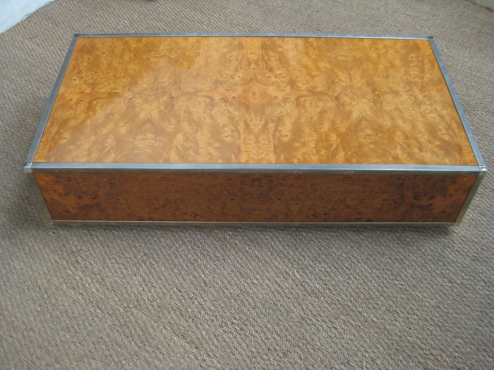 Vintage elm coffee table by willy rizzo for sale at pamono for Table willy rizzo