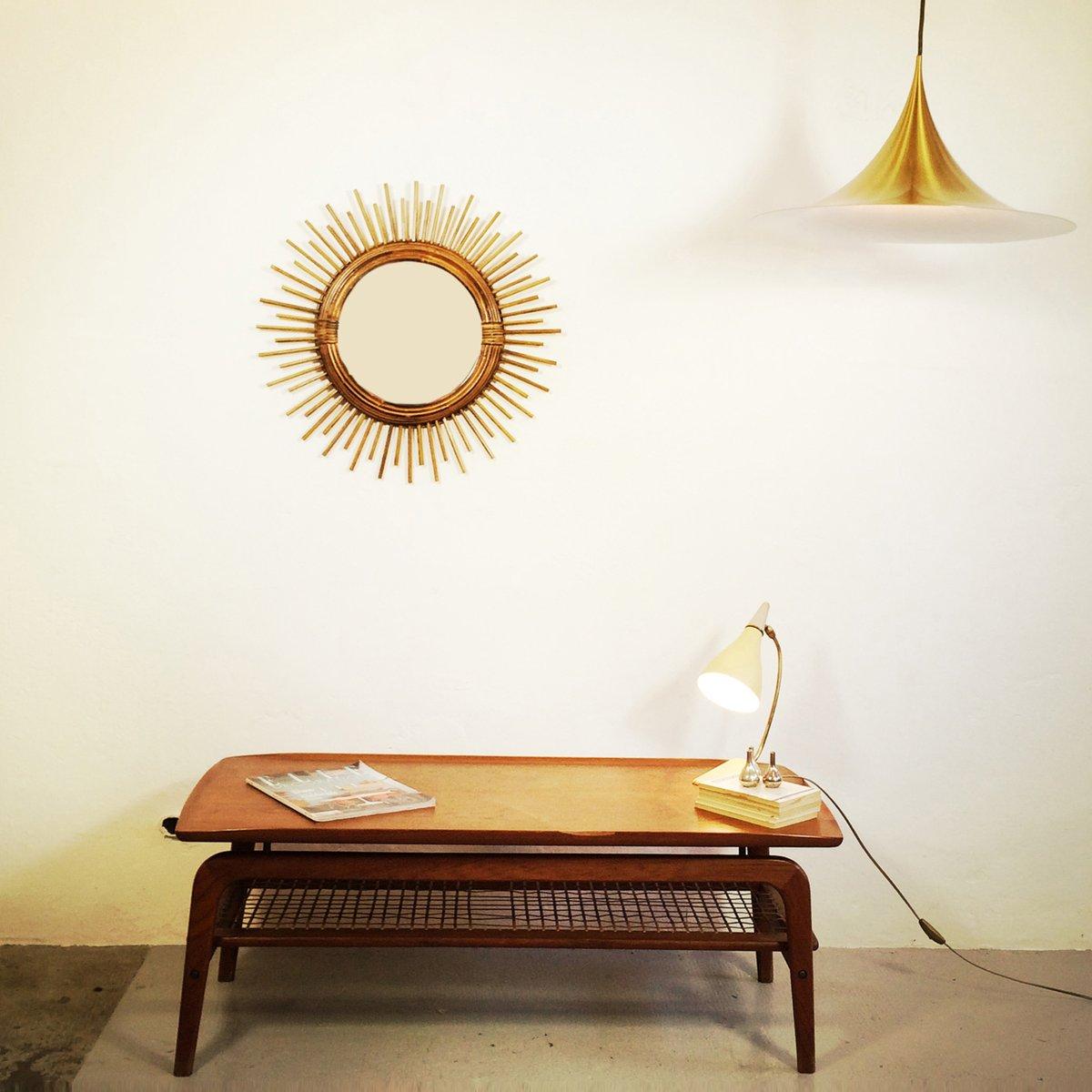 skandinavischer couchtisch mit rattan regal bei pamono kaufen. Black Bedroom Furniture Sets. Home Design Ideas