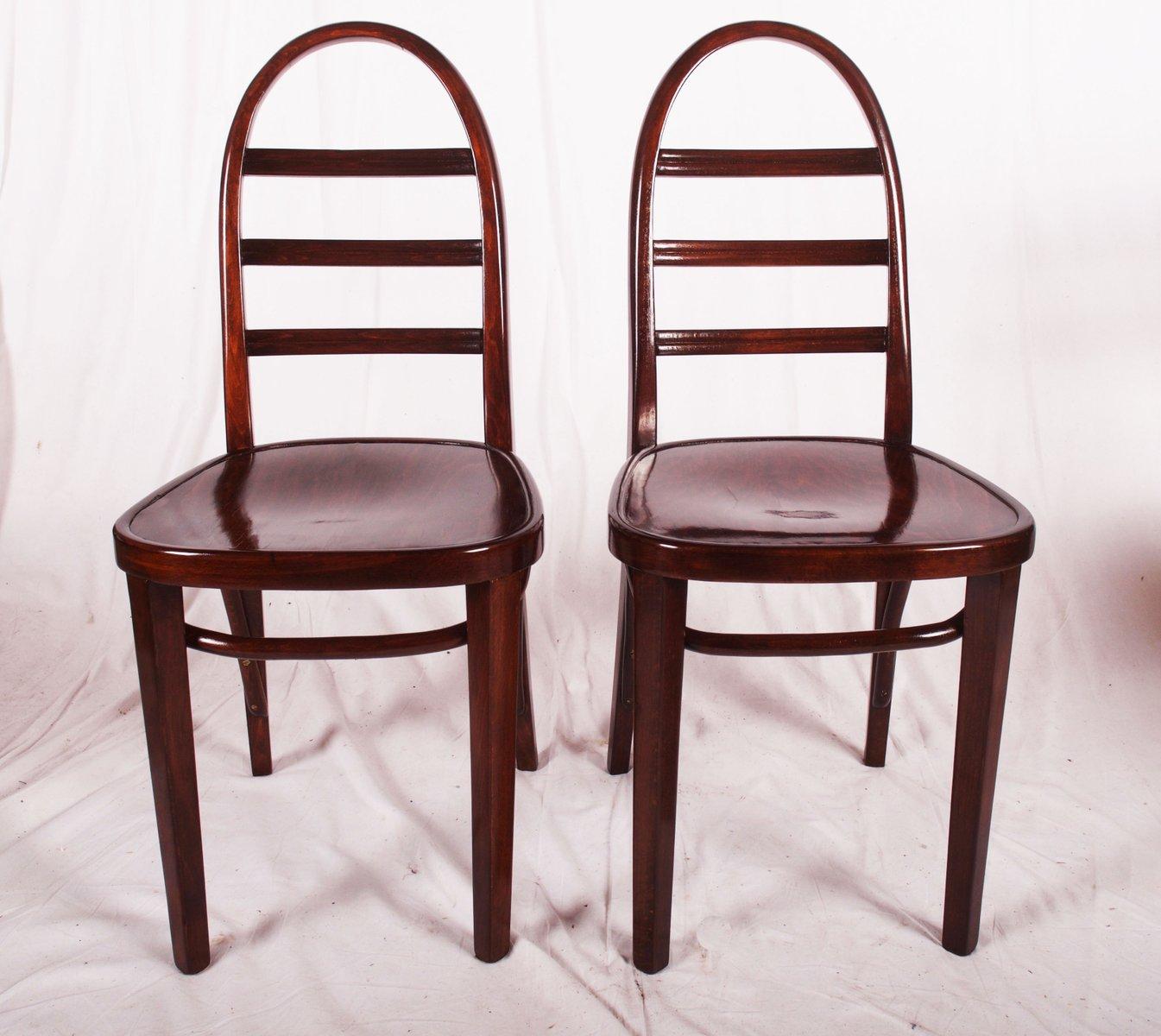 art deco beech bentwood chair from thonet