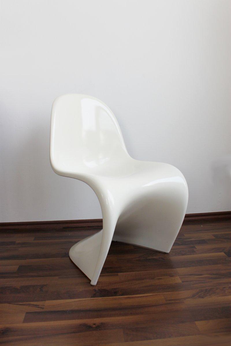 wei lackierter panton stuhl von verner panton f r vitra 1960er bei pamono kaufen. Black Bedroom Furniture Sets. Home Design Ideas