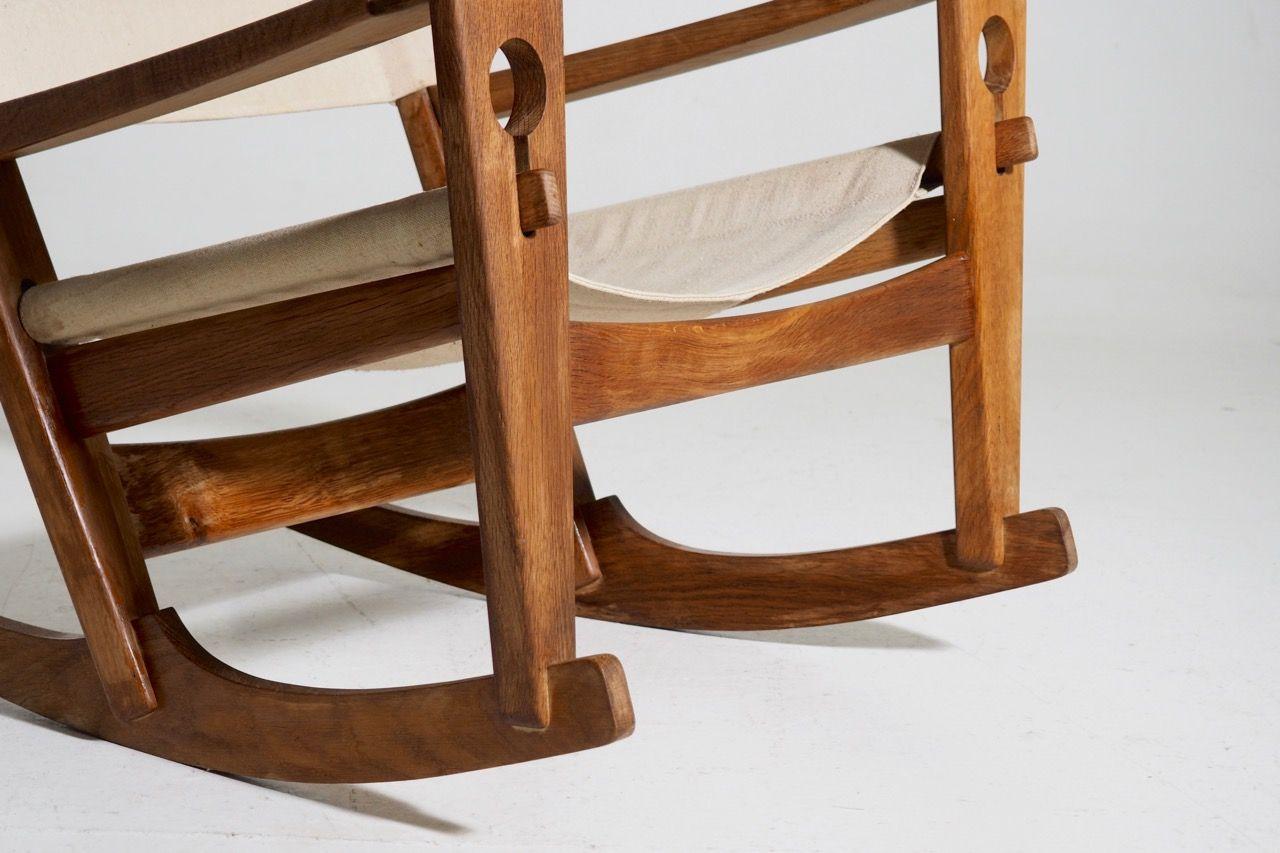Nøglehullet Oak Rocking Chair by Hans Wegner for Getama, 1967 for ...