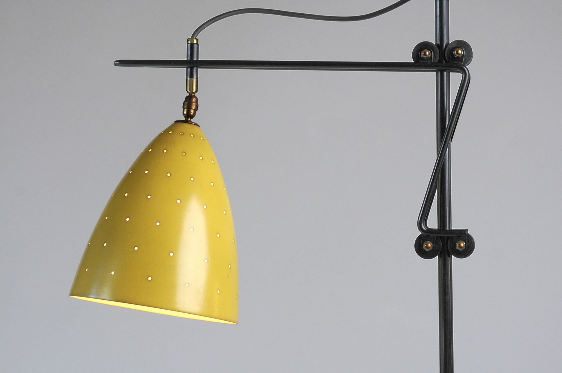 Yellow adjustable floor lamp for sale at pamono for 8 floor lamp