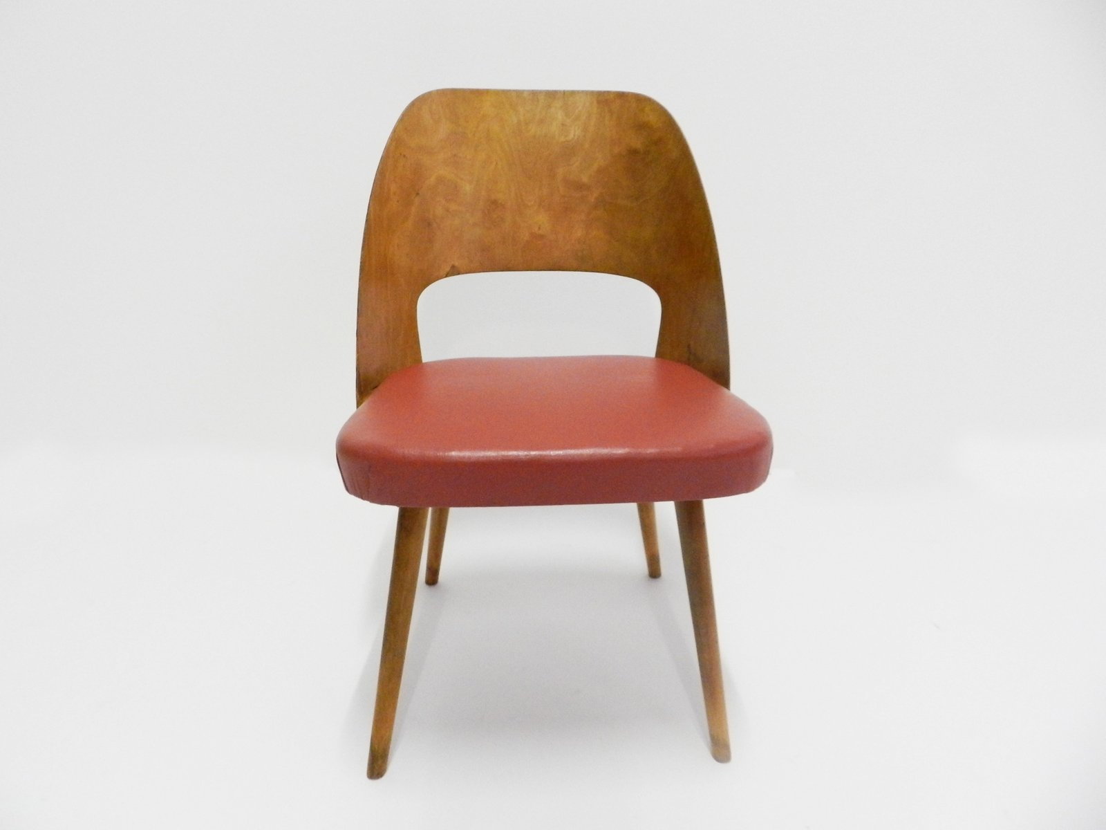 Danish red white side chairs 1950s for sale at pamono for Side chairs for sale
