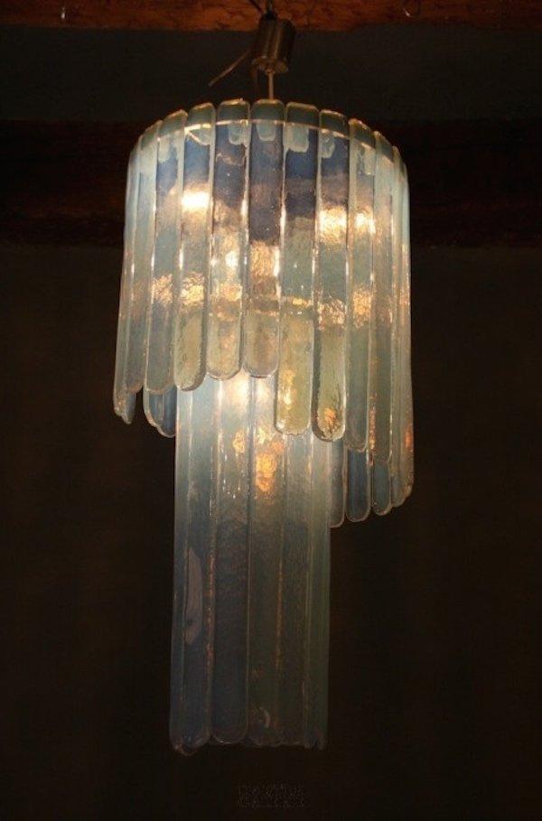 blaue deckenlampe aus murano glas von leucos 1970er bei pamono kaufen. Black Bedroom Furniture Sets. Home Design Ideas