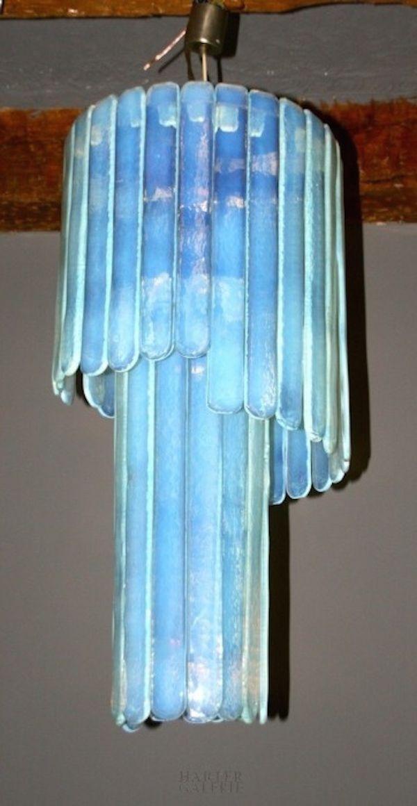 blaue deckenlampe aus murano glas von leucos 1970er bei. Black Bedroom Furniture Sets. Home Design Ideas