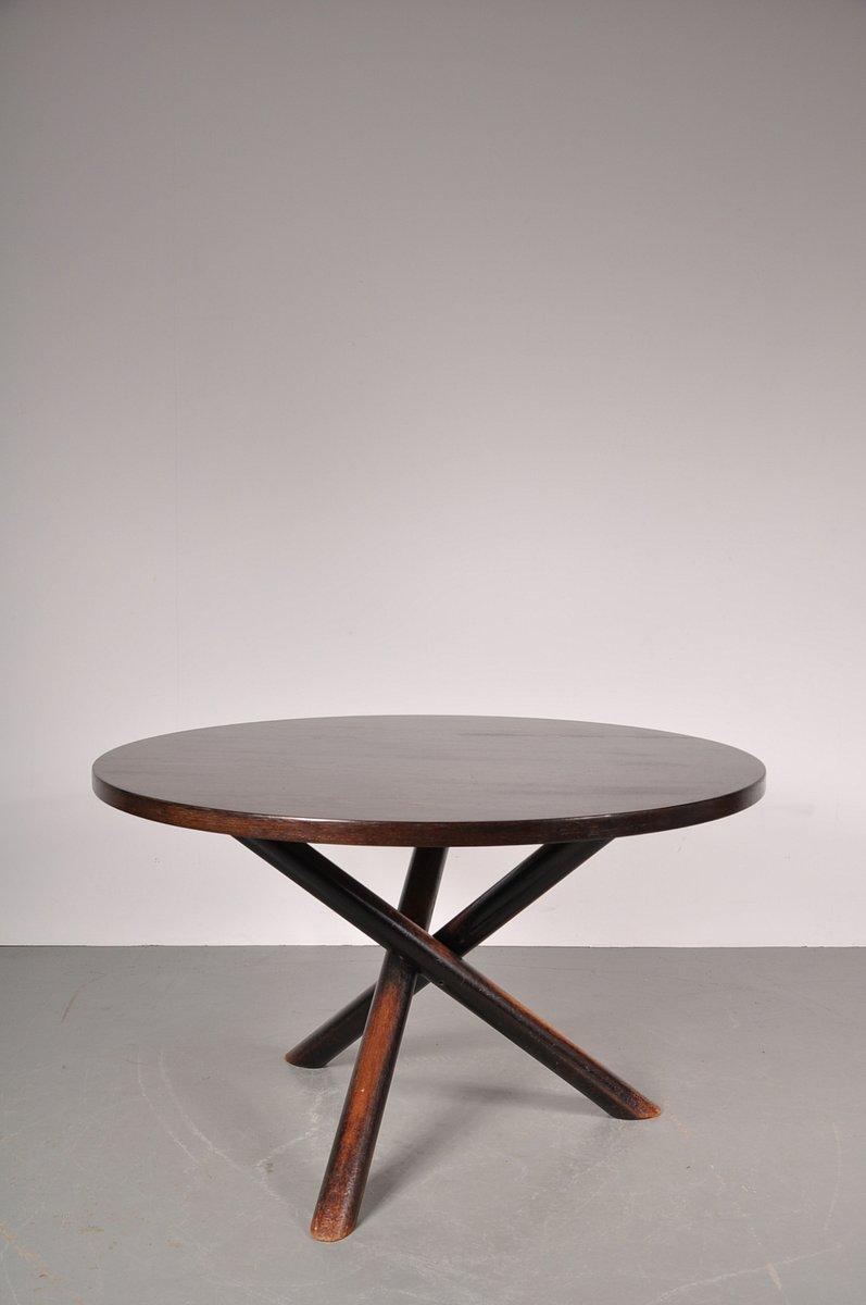 niederl ndischer runder esszimmertisch von martin visser f r 39 t spectrum 1960er bei pamono kaufen. Black Bedroom Furniture Sets. Home Design Ideas