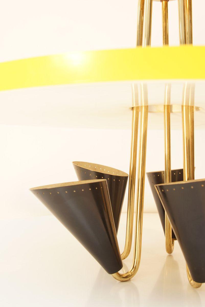 italienische deckenlampe aus metall 1950er bei pamono kaufen. Black Bedroom Furniture Sets. Home Design Ideas
