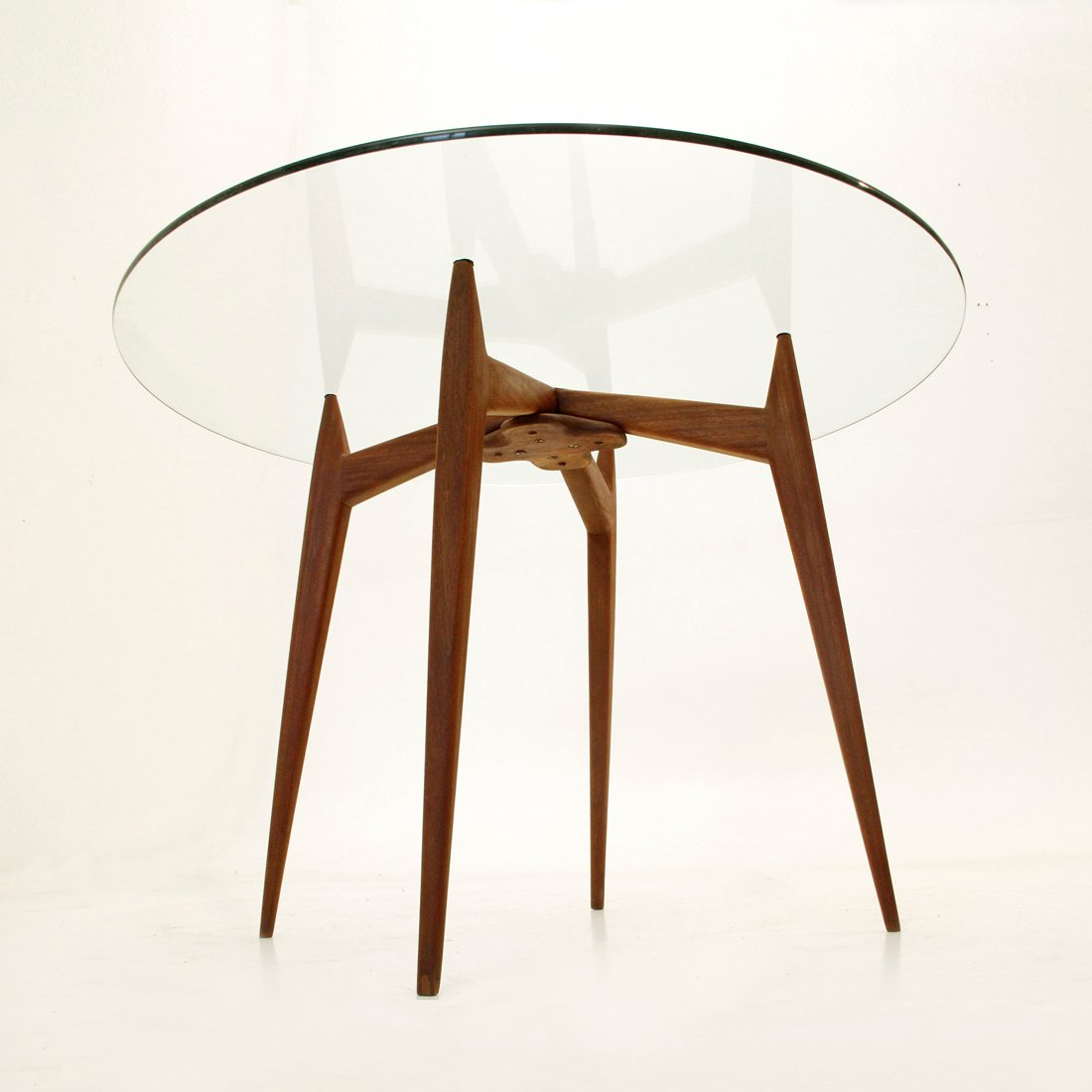 Italian Glass Dining Table Italian Mid Century Glass Dining Table 1950s For Sale At Pamono