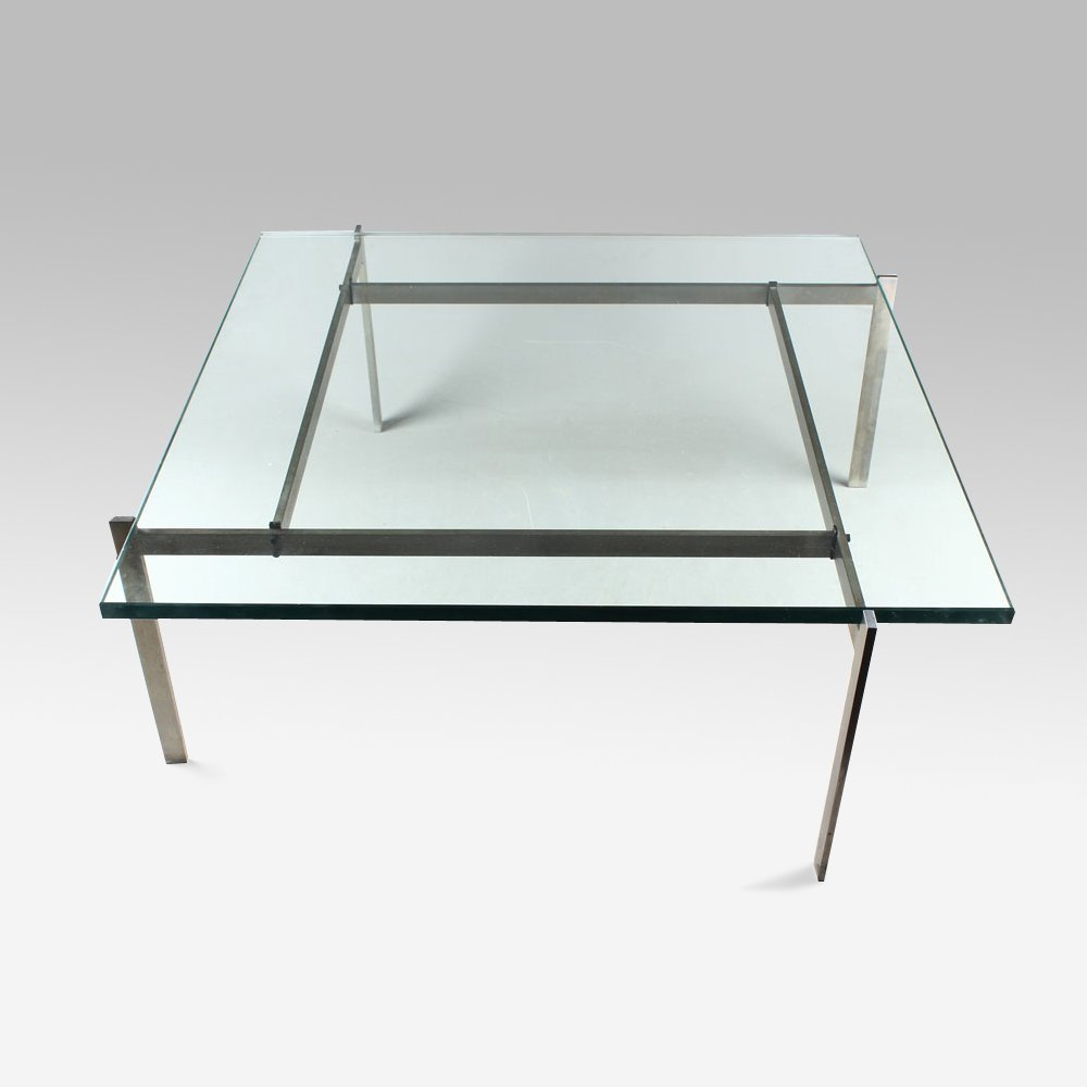 Pk61 Glass Top Coffee Table By Poul Kjaerholm For E Kold