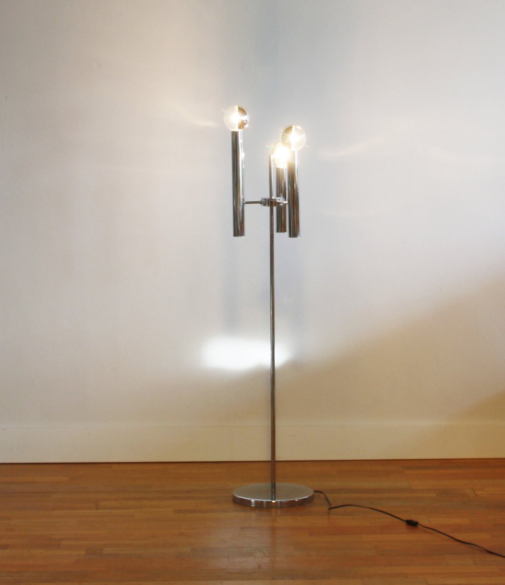 italian floor lamp with three bulbs 1950s for sale at pamono. Black Bedroom Furniture Sets. Home Design Ideas