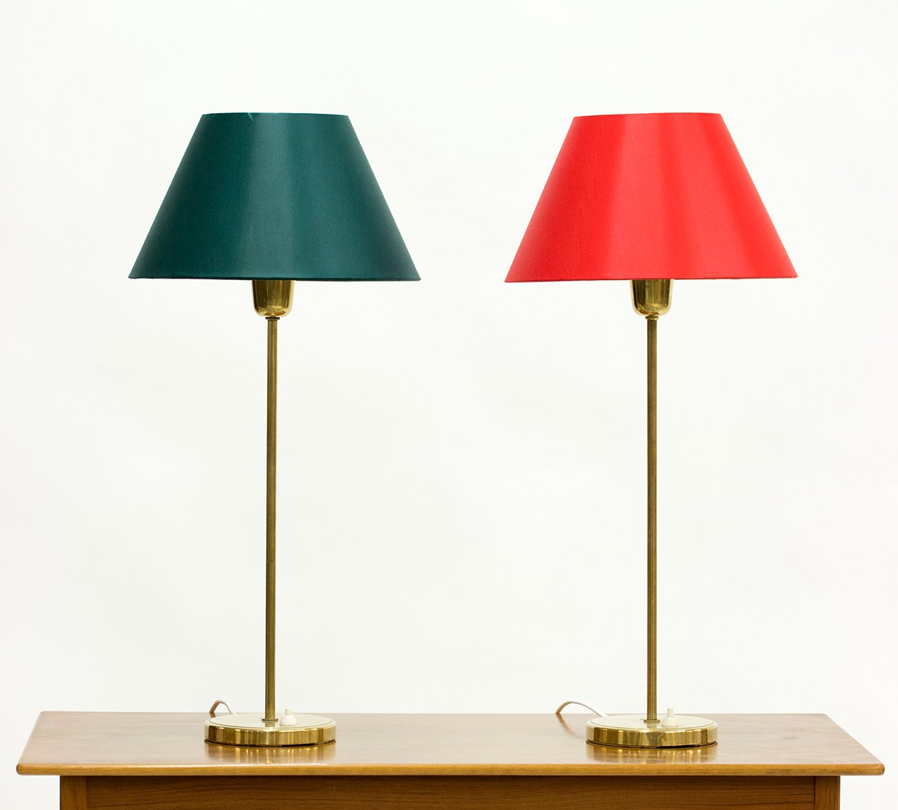 brass table lamps from asea 1950s set of 2 for sale at. Black Bedroom Furniture Sets. Home Design Ideas
