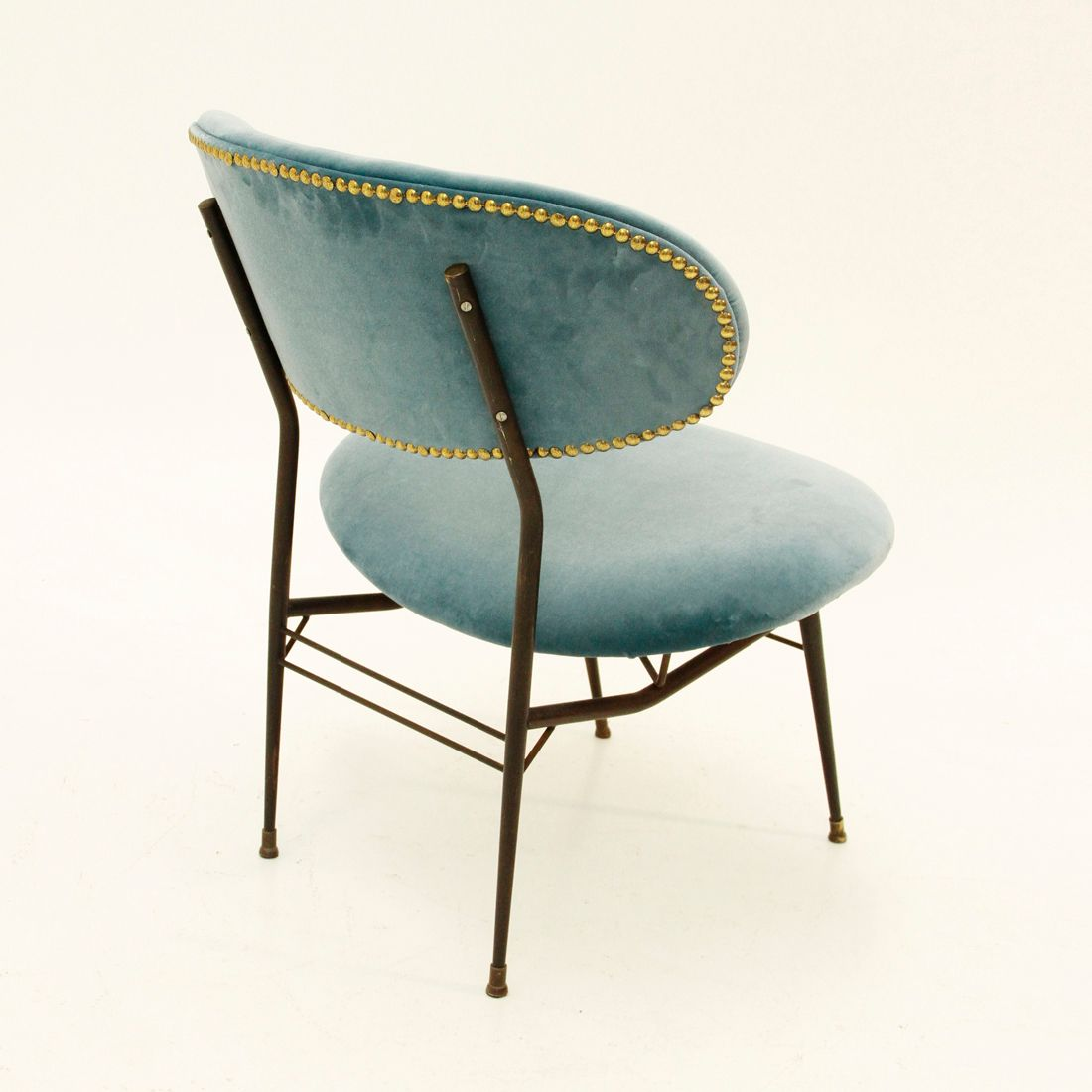 italienischer himmelbauer lounge stuhl 1950er bei pamono kaufen. Black Bedroom Furniture Sets. Home Design Ideas