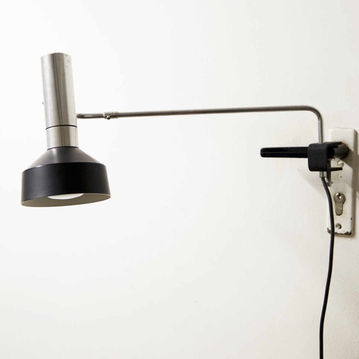 metal clamp light from baltensweiler for sale at pamono. Black Bedroom Furniture Sets. Home Design Ideas