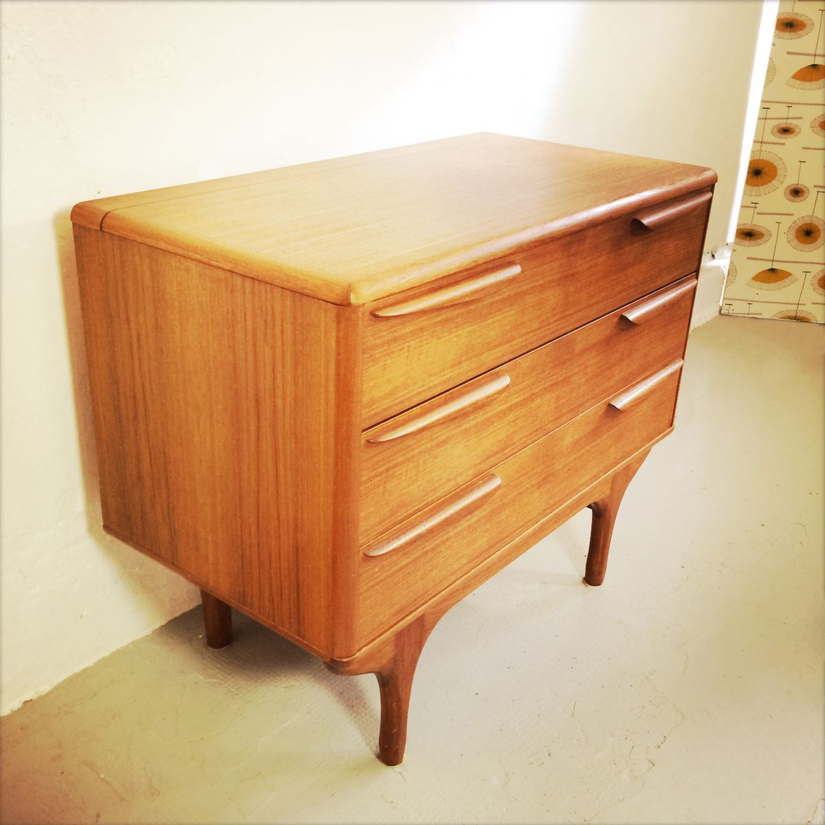 French chest of drawers from meubles tv 1950s for sale at for Meuble 1950