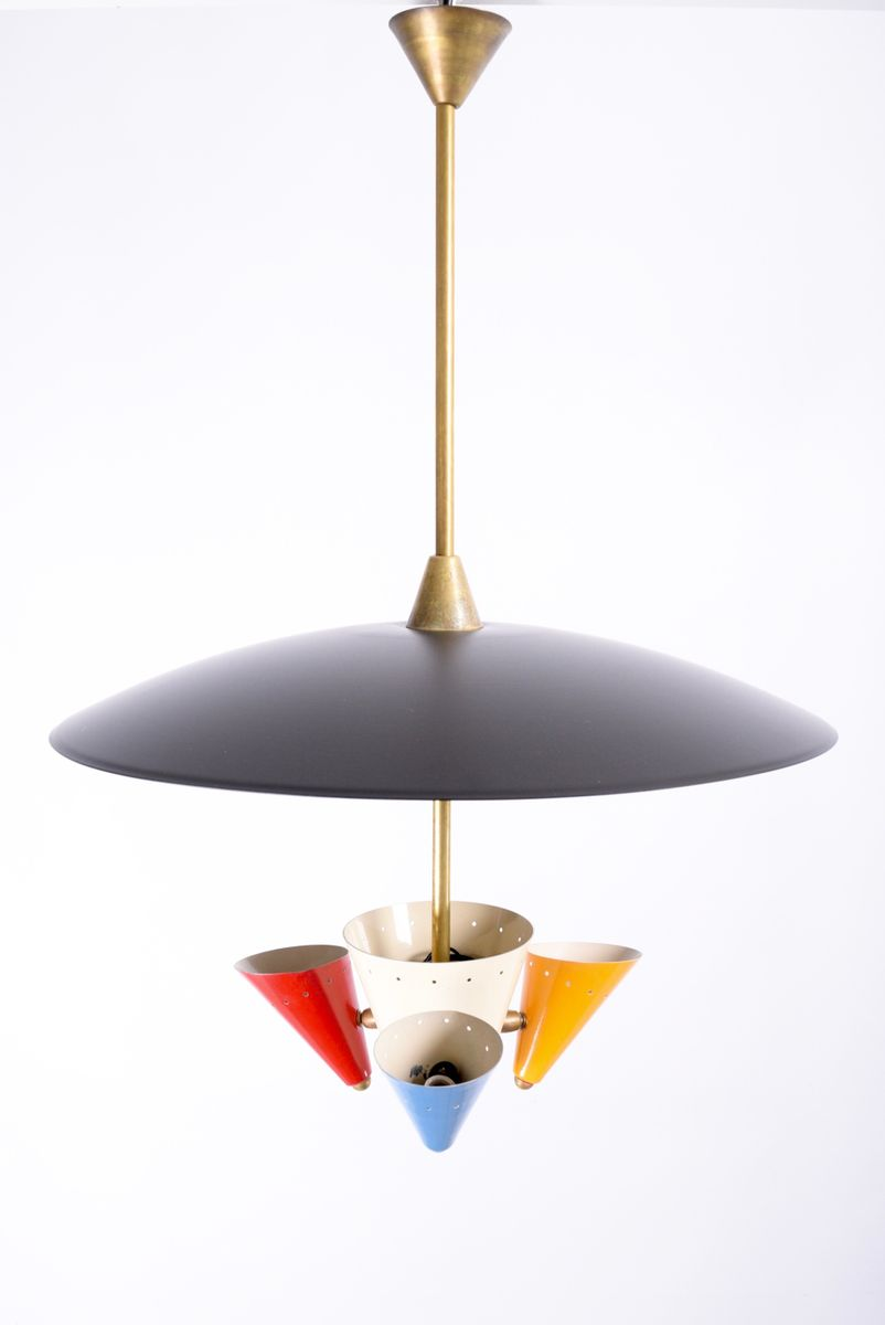 vintage ceiling light from arredoluce for sale at pamono