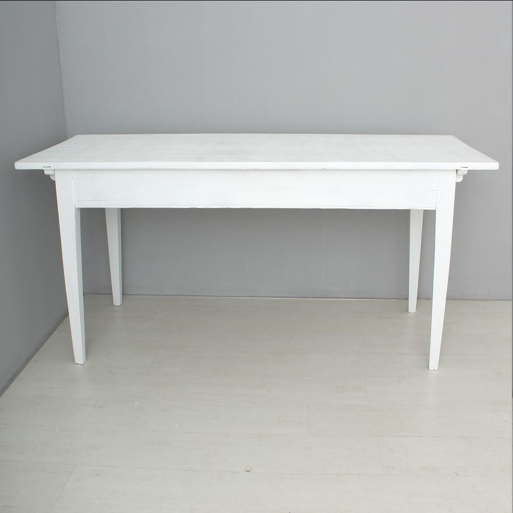 White Kitchen Tables For Sale: Antique White Dining Table For Sale At Pamono