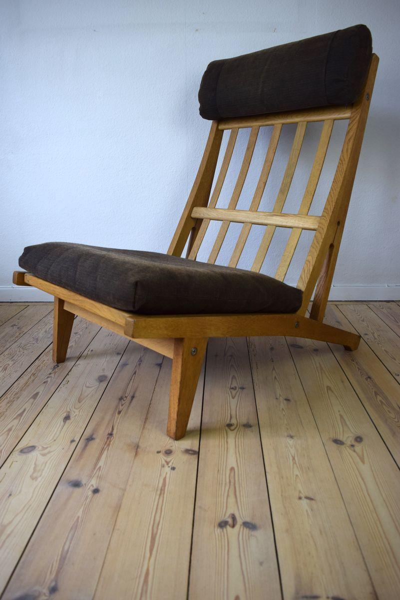 d nischer ge 375 lounge stuhl aus eichenholz von hans j wegner f r getama 1969 bei pamono kaufen. Black Bedroom Furniture Sets. Home Design Ideas
