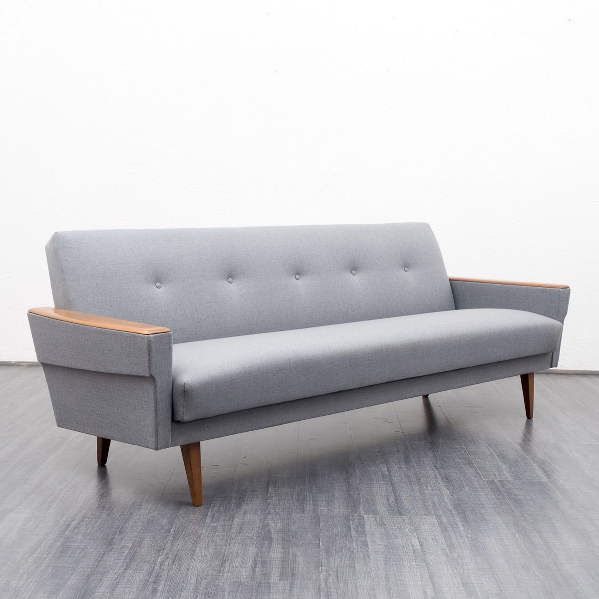Light Grey Couch With Folding Function For Sale At Pamono