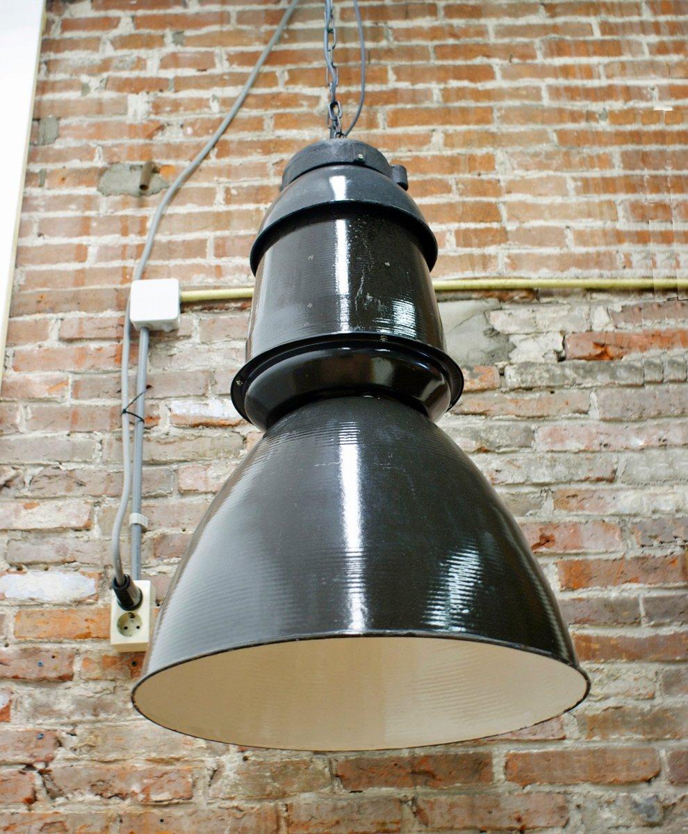 grande lampe suspension industrielle noire 1950s en vente sur pamono. Black Bedroom Furniture Sets. Home Design Ideas