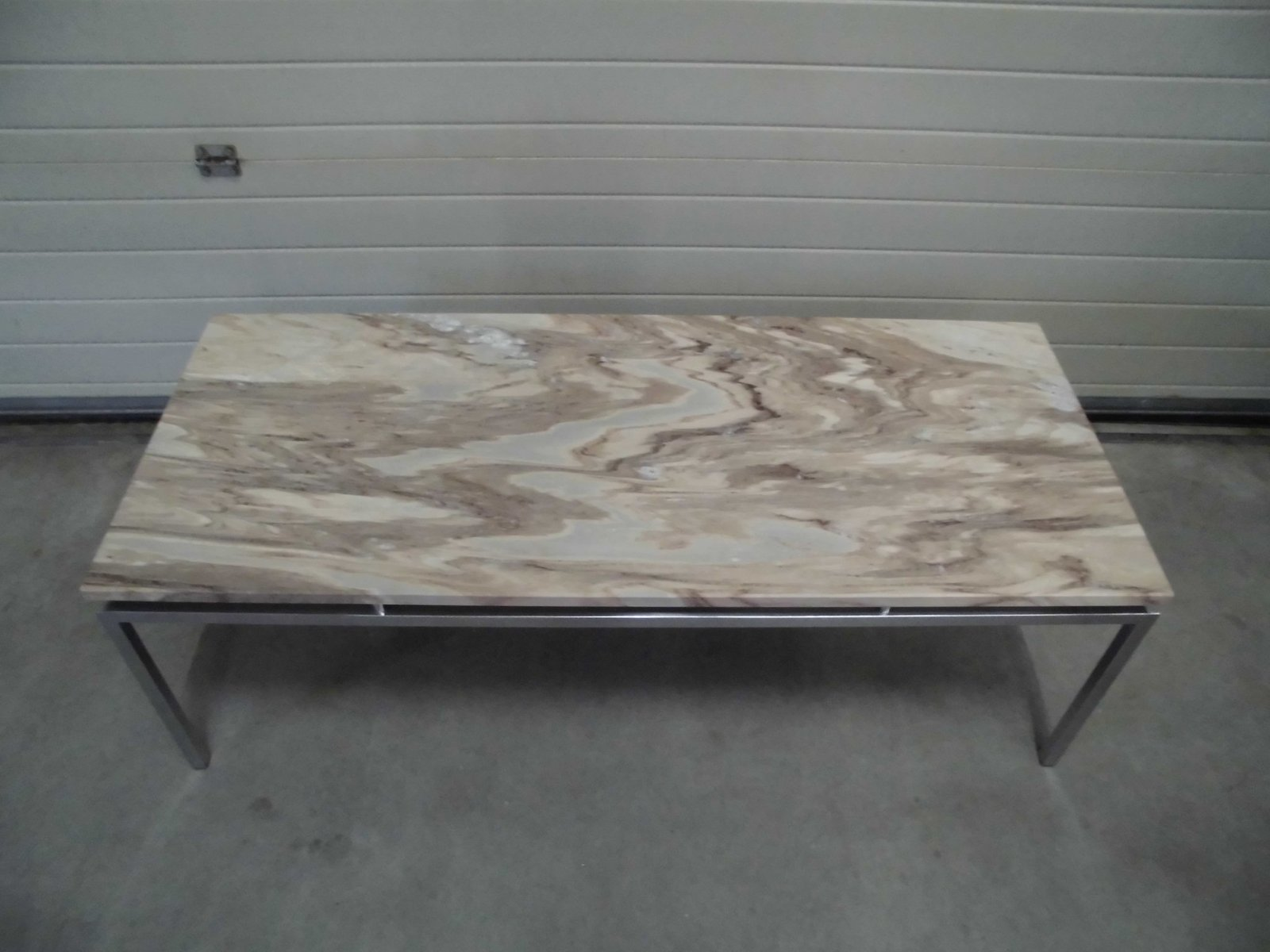 Exceptional Dutch Vintage Marble Coffee Table, 1969