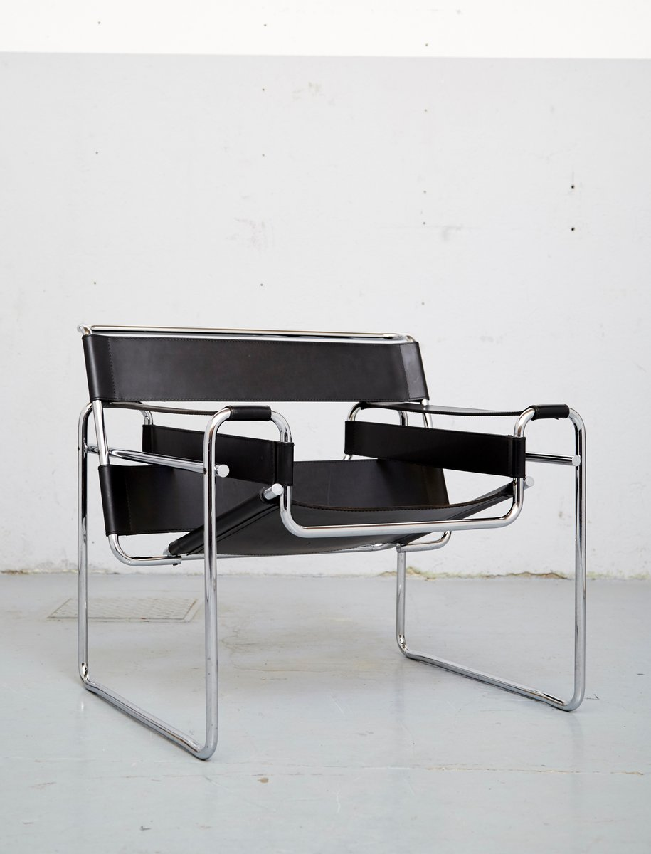 vintage b3 wassily stuhl von marcel breuer f r knoll. Black Bedroom Furniture Sets. Home Design Ideas