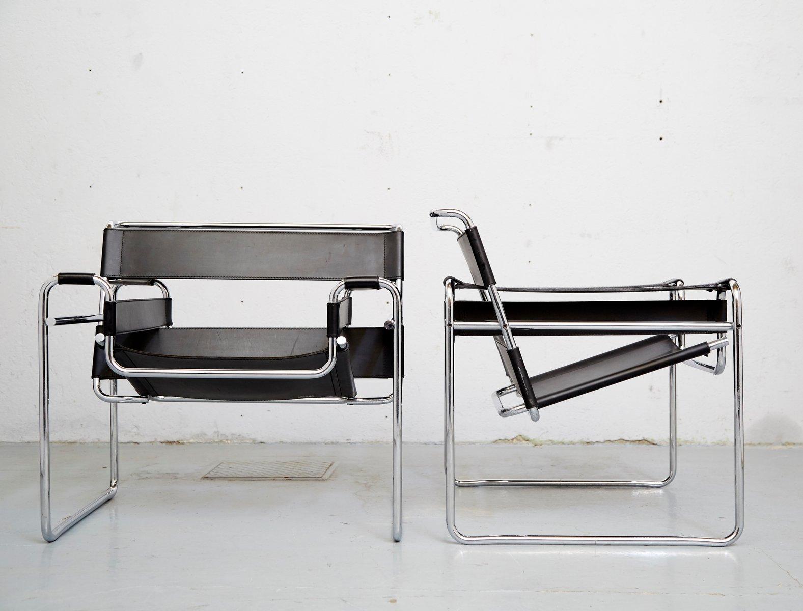 vintage b3 wassily stuhl von marcel breuer f r knoll international bei pamono kaufen. Black Bedroom Furniture Sets. Home Design Ideas