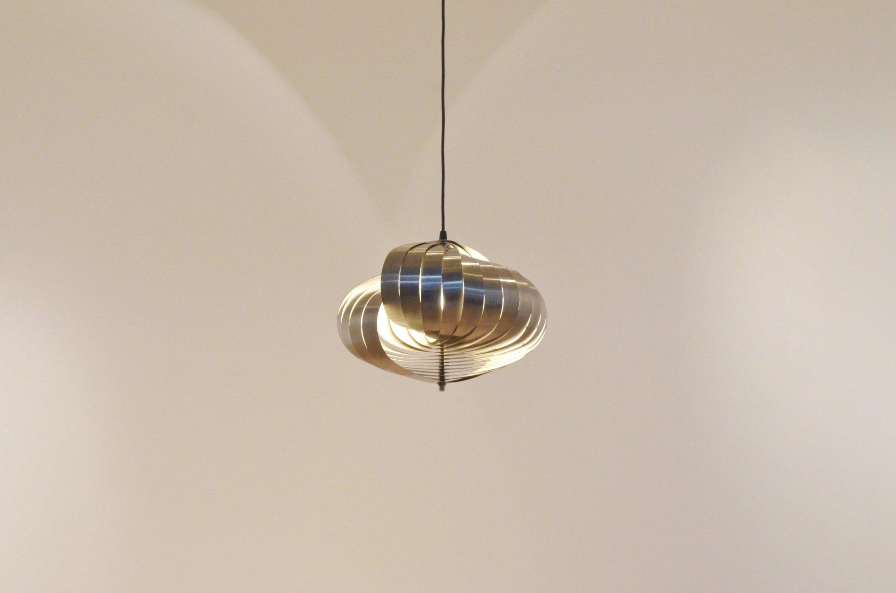 Lampe suspension vintage en argent par henri mathieu pour lyfa en vente sur - Lampe suspension vintage ...