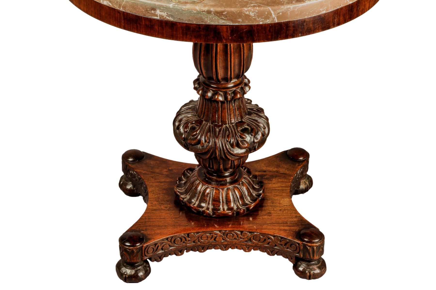 Indischer podest tisch aus palisander marmor 1840 bei for Tisch aus marmor