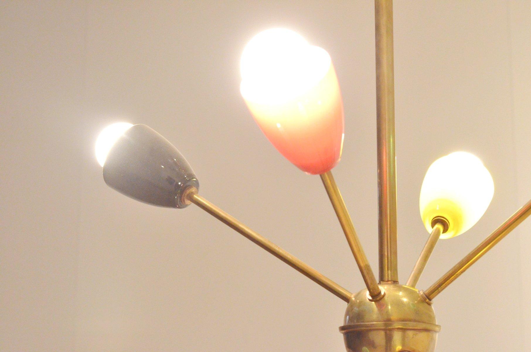 franz sische mehrfarbige mid century glas lampe 1950er bei pamono kaufen. Black Bedroom Furniture Sets. Home Design Ideas
