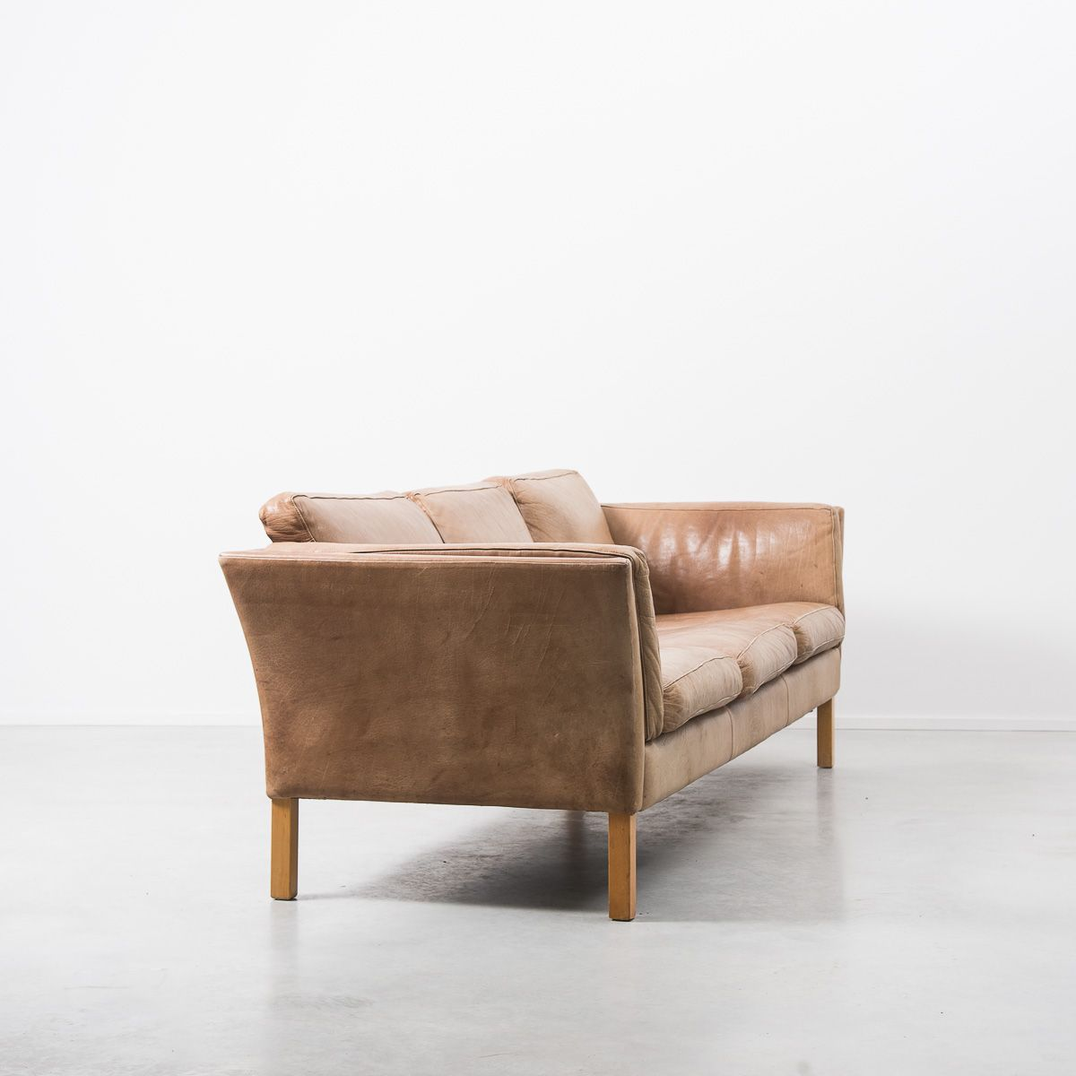 Tan leather sofa by erik j rgensen 1960s for sale at pamono for Tan couches for sale