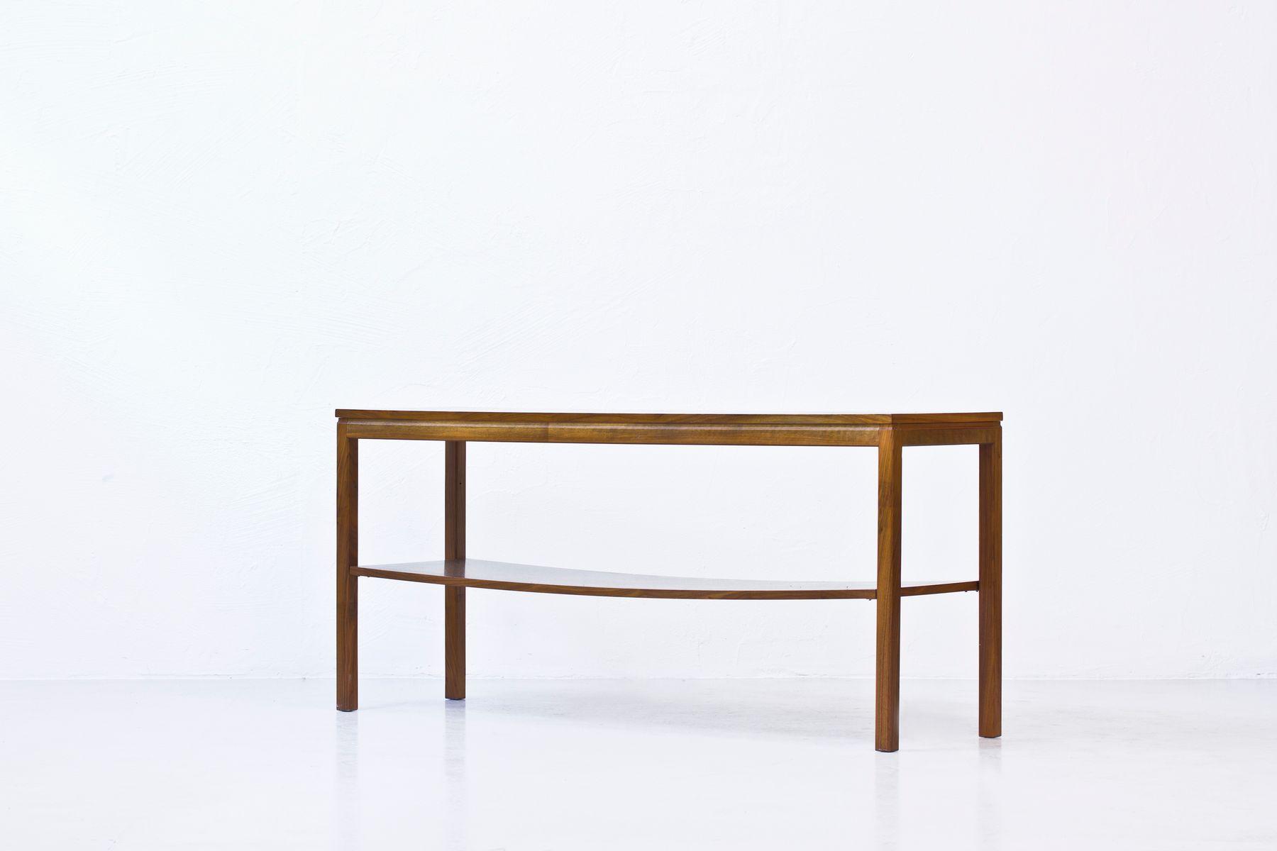 table console en noyer avec etag re en vente sur pamono. Black Bedroom Furniture Sets. Home Design Ideas