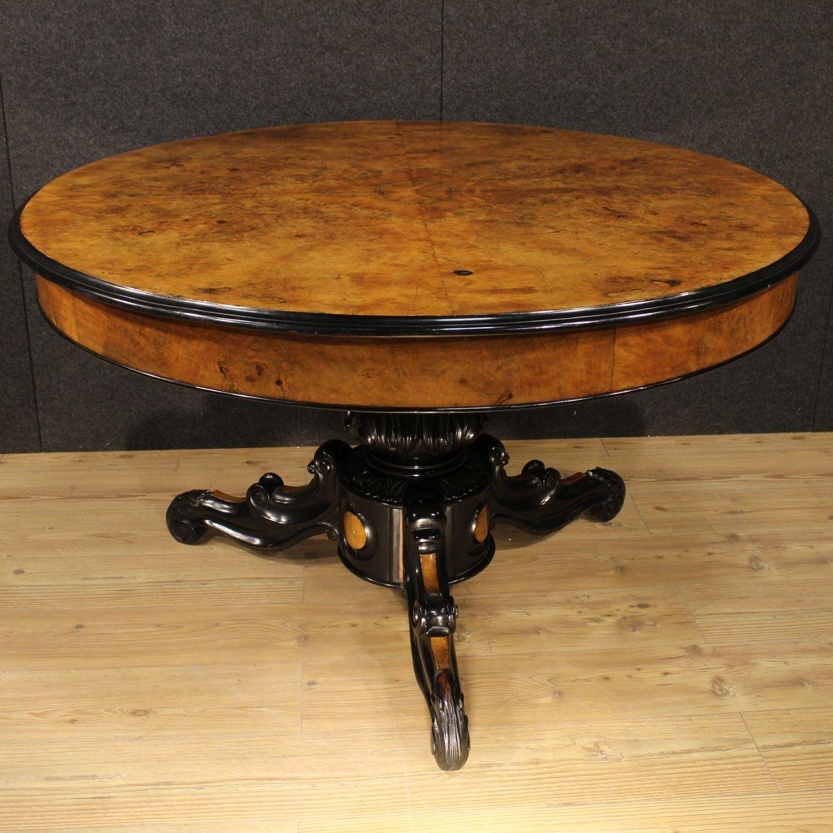 Table extensible en noyer et broussin france en vente sur for Table extensible en solde