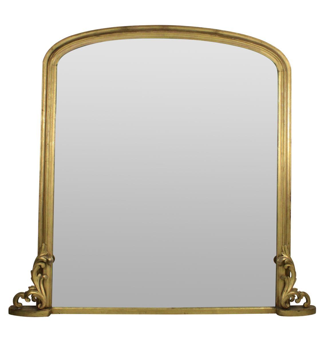 Grand miroir avec cadre dor l 39 eau en vente sur pamono for Grand miroir solde
