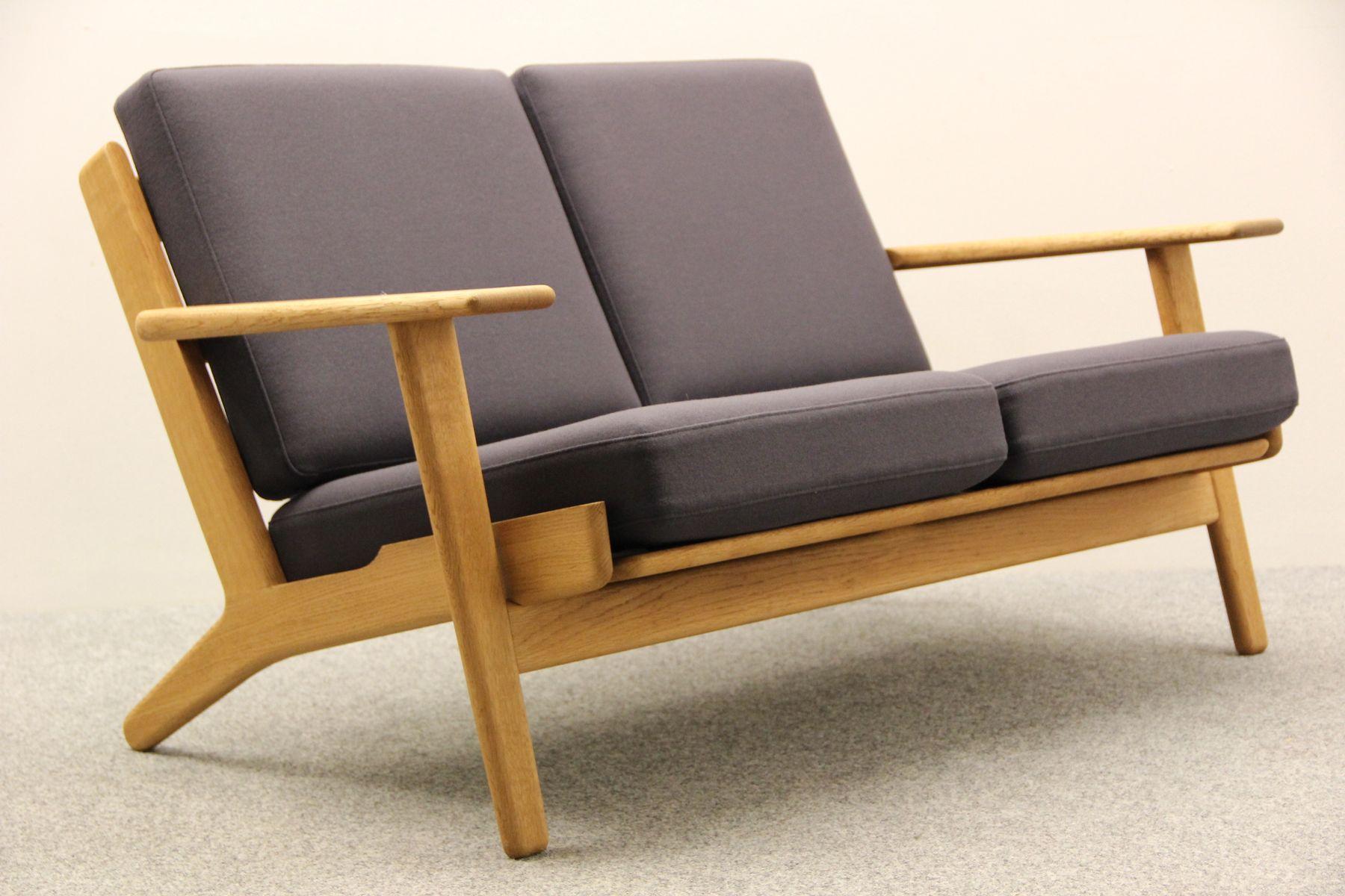 d nischer ge 290 zwei sitzer sofa aus eiche holz von getama 1950er bei pamono kaufen. Black Bedroom Furniture Sets. Home Design Ideas