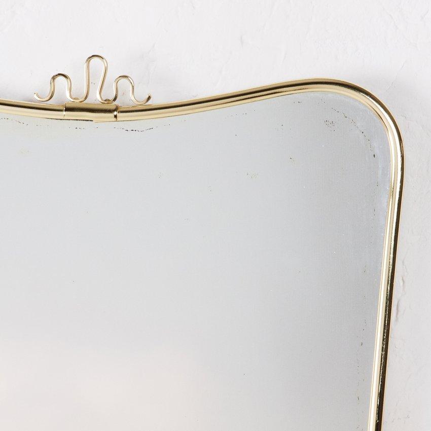 Miroir forme libre en laiton et verre allemagne 1950s en for Miroir forme originale