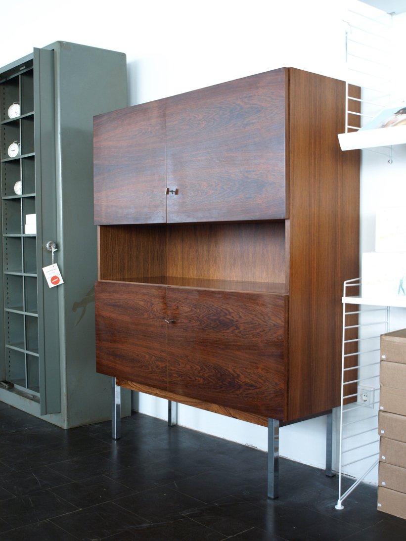 deutsches palisander highboard mit elementen aus metall bei pamono kaufen. Black Bedroom Furniture Sets. Home Design Ideas