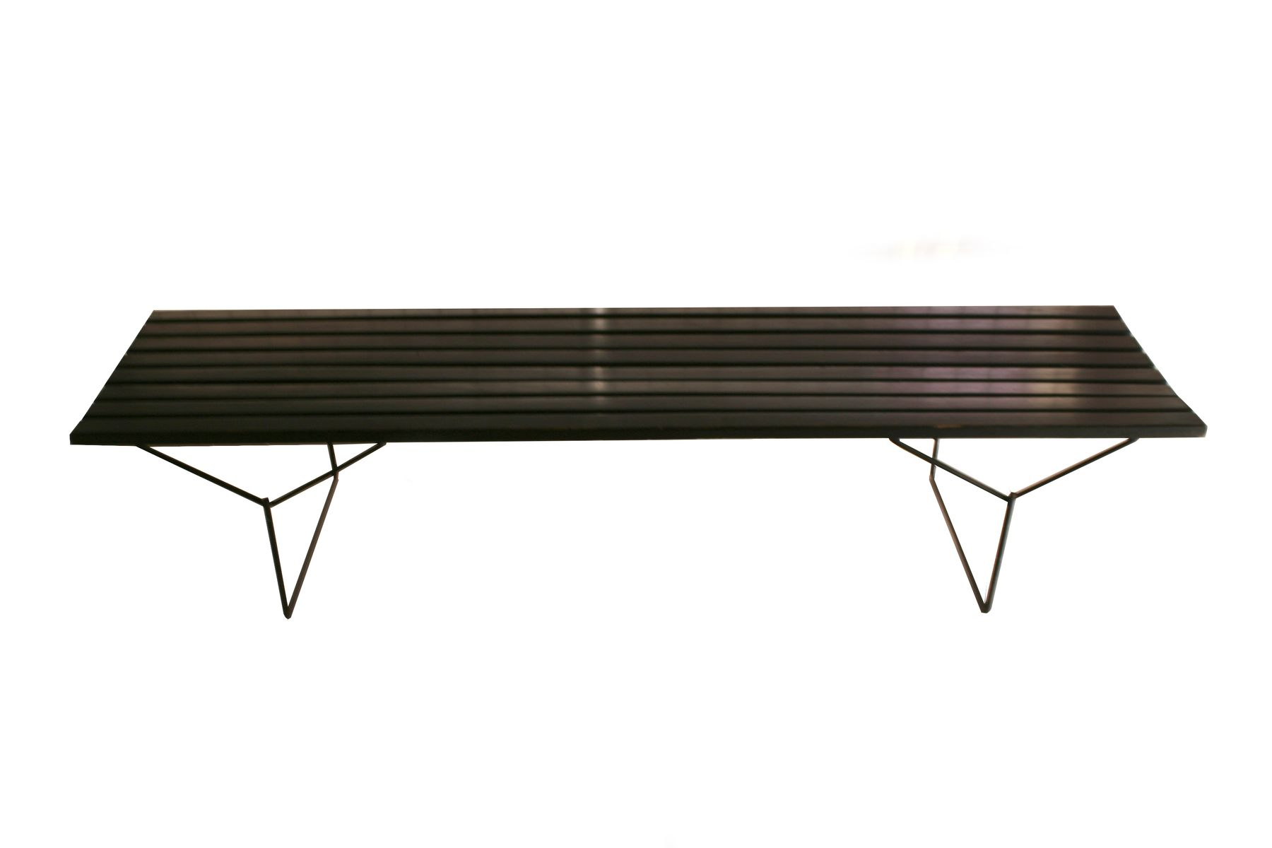 banc lacqu noir par harry bertoia pour knoll 1950 en vente sur pamono. Black Bedroom Furniture Sets. Home Design Ideas