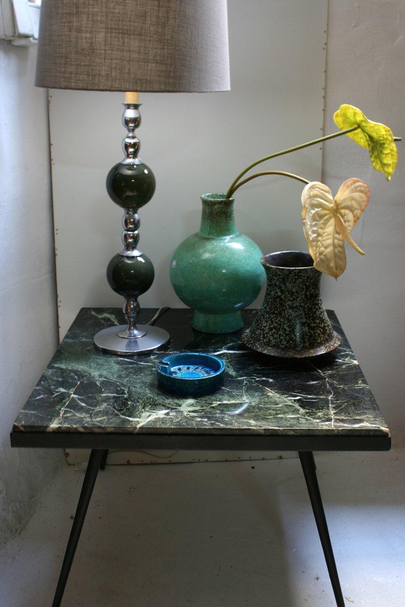 spanischer beistelltisch aus marmor und eisen 1950er bei. Black Bedroom Furniture Sets. Home Design Ideas