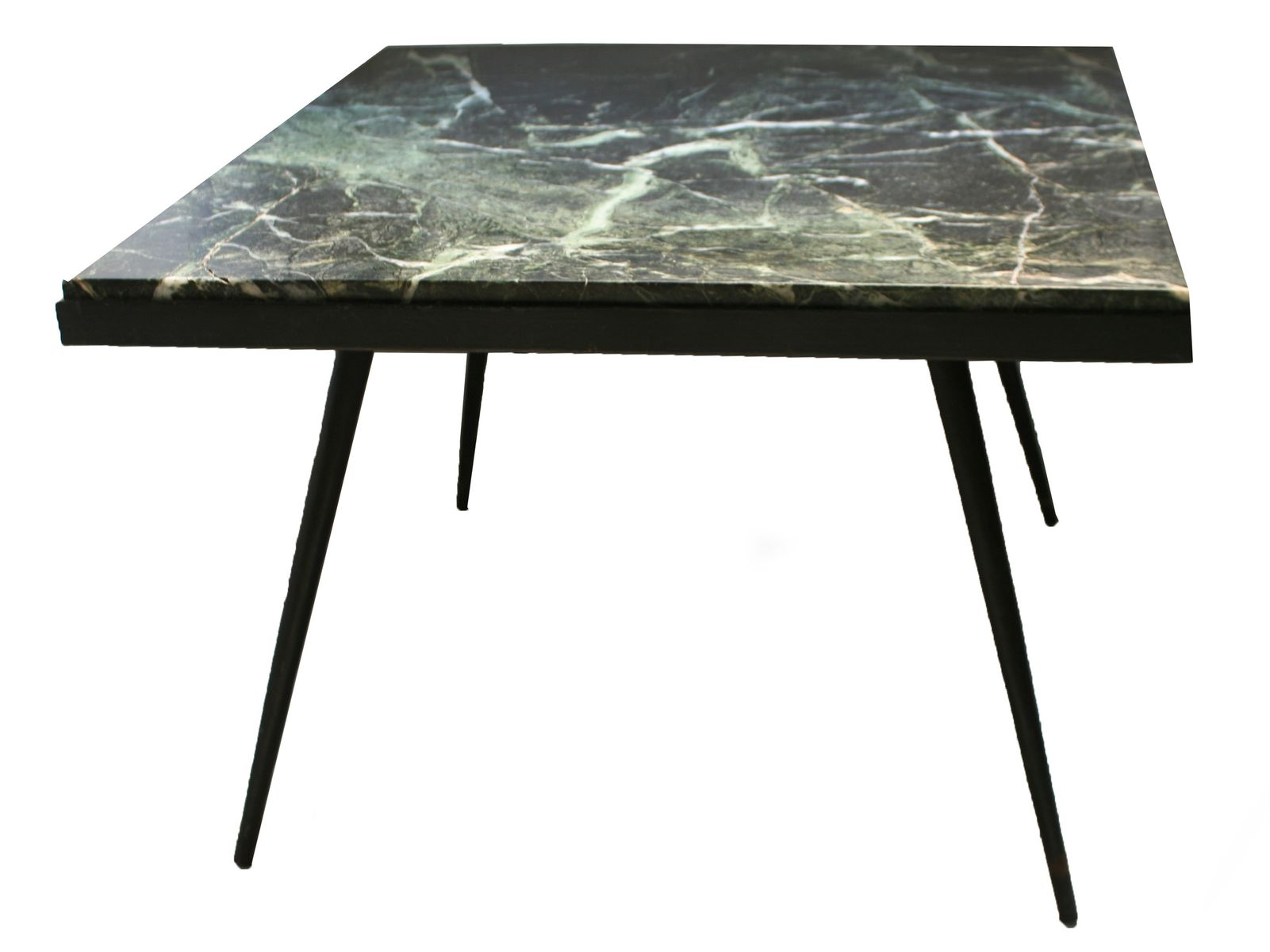 Spanish Marble And Iron Side Table, 1950s