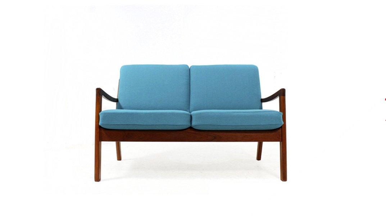 d nisches zwei sitzer sofa von ole wanscher f r cado 1960er bei pamono kaufen. Black Bedroom Furniture Sets. Home Design Ideas